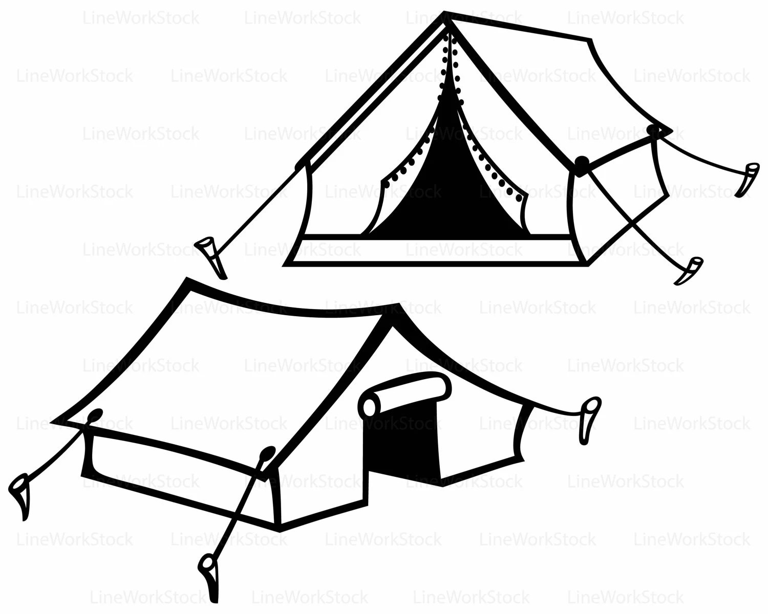 Hello Kitty Zelt Tourist Tent Svg Tent Clipart Tent Svg Tourist Tent