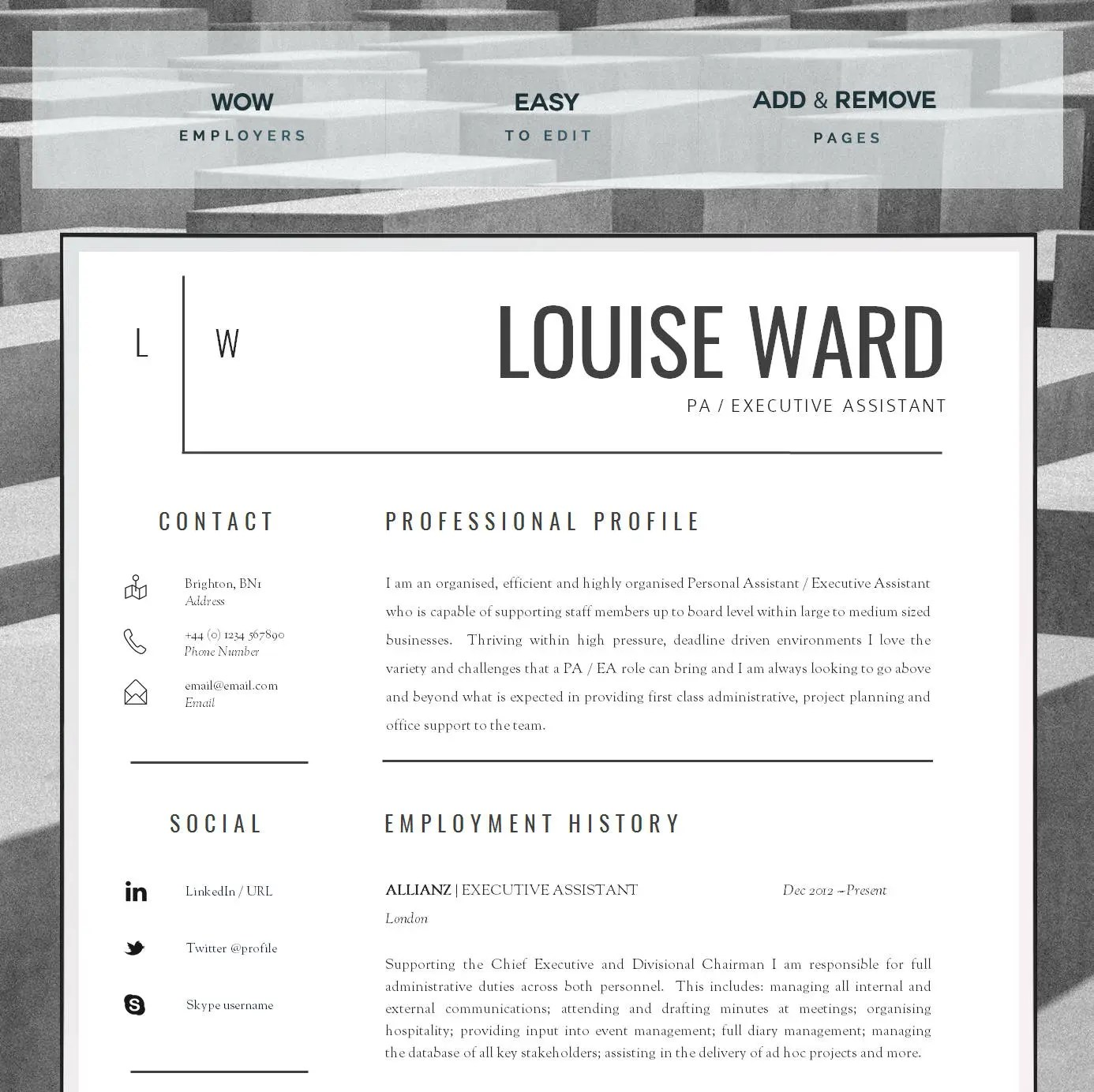 Resume Template CV Template Cover Letter Resume Advice - assistant resume
