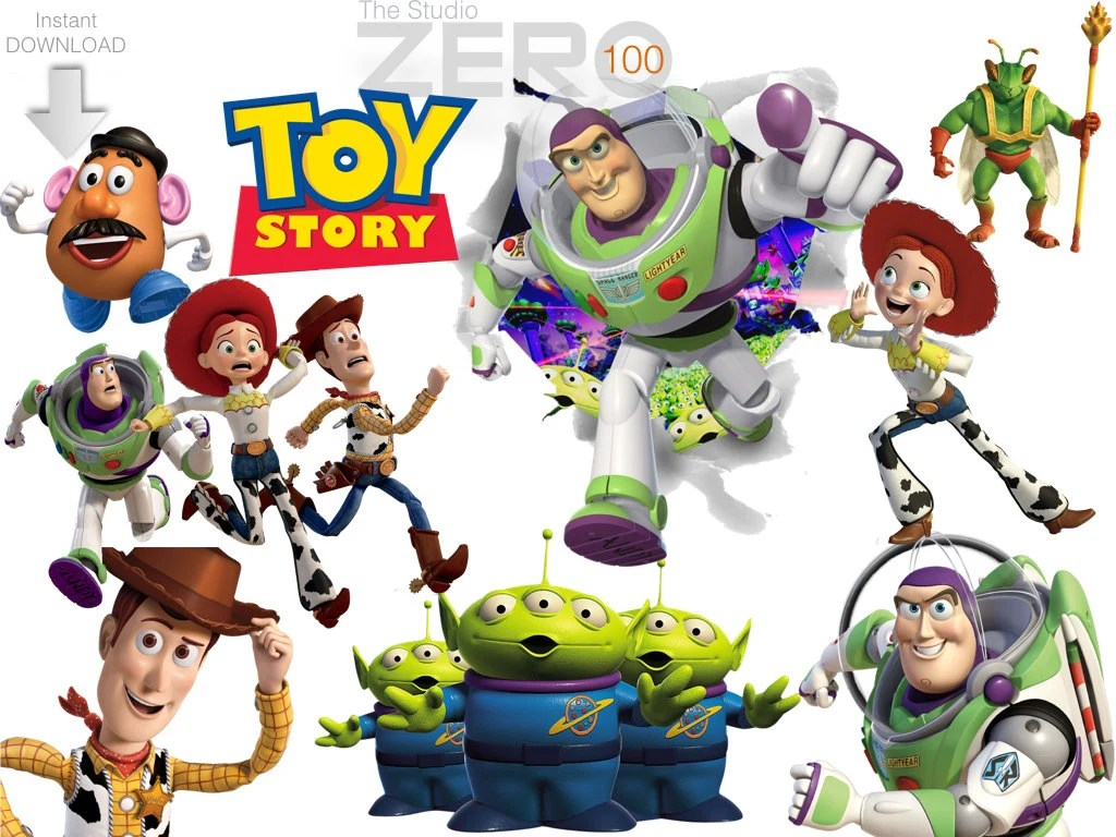 100 Toy Story Clipart 300dpi Png Instant Download Printable