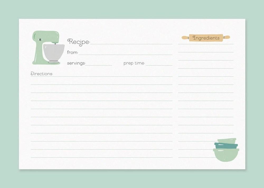 cute recipe card templates - Onwebioinnovate