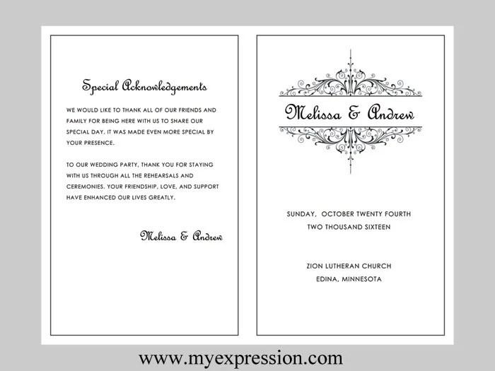 wedding programs word template - Josemulinohouse