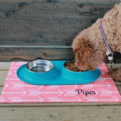 Appealing Personalized Pet Placemat Dog Food Water Bowl Mat Arrows Dog Bowl Water Resistant Puppy Dog Gift By Three Spoiled Dogs Personalized Pet Placemat Dog Food Water Bowl Mat Arrows Dog