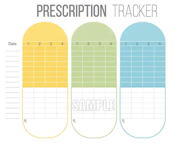 free printable medication list - Leonescapers