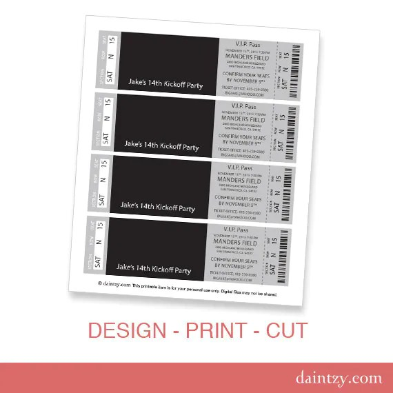 stag tickets template free - Intoanysearch - free event ticket template