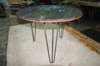 Repurposed Up-cycled Whiskey Barrel COFFEE Table 100yr old