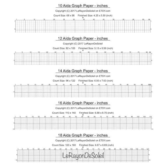 aida 14 count graph paper