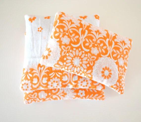 Floral Orange Lavender Sachets Vintage Fabric Aromatherapy