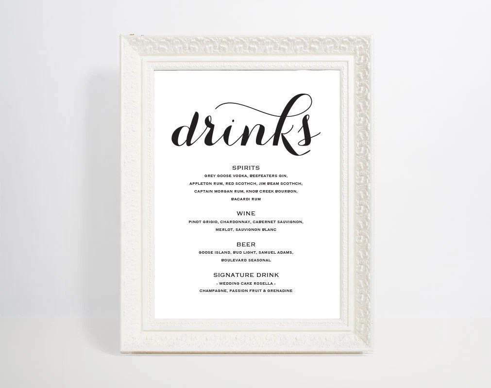 drinks menu template - Minimfagency - Free Drink Menu Template