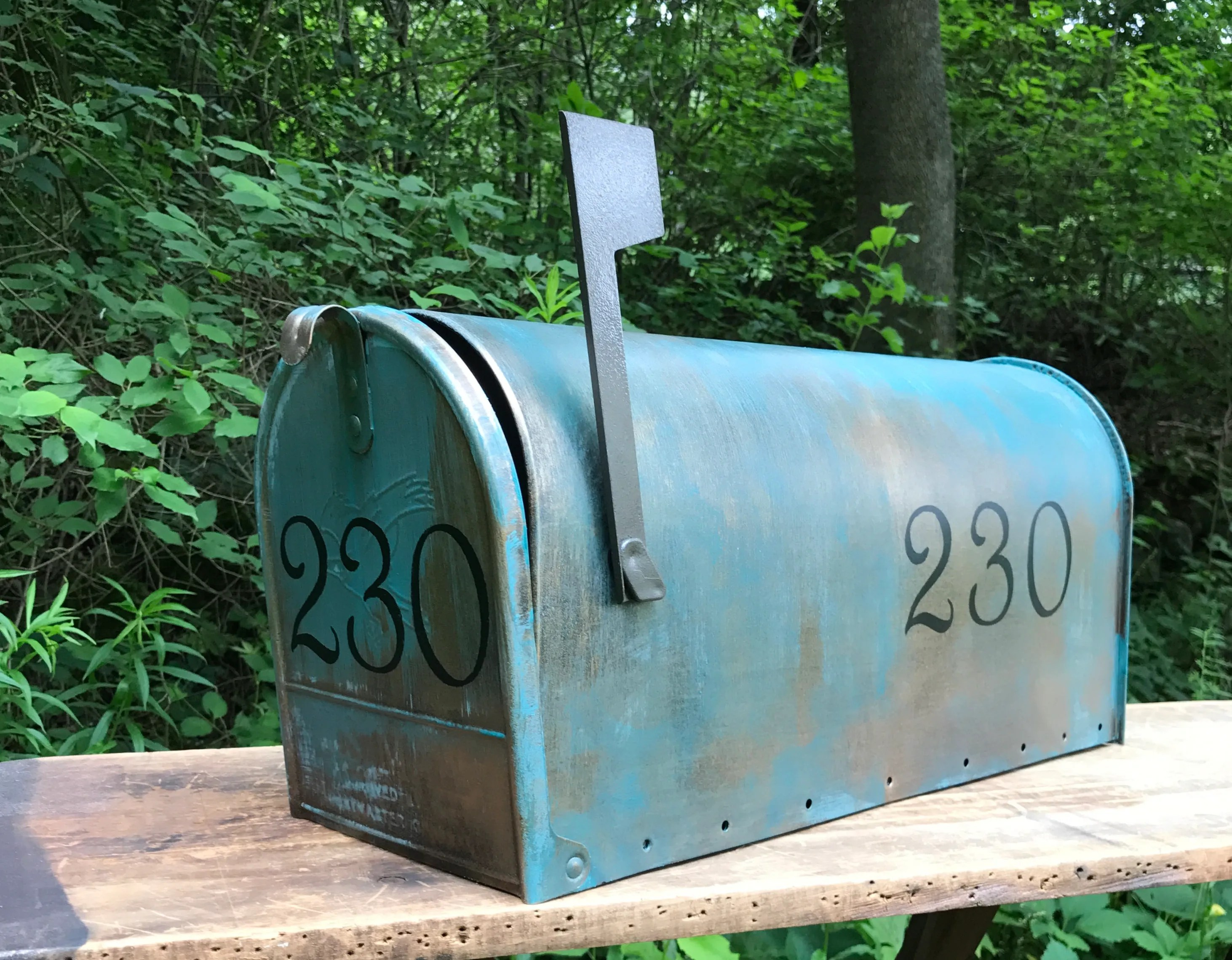 Copper Mailbox Patina Large Size Custom Aged Copper Verde Patina Mailbox With