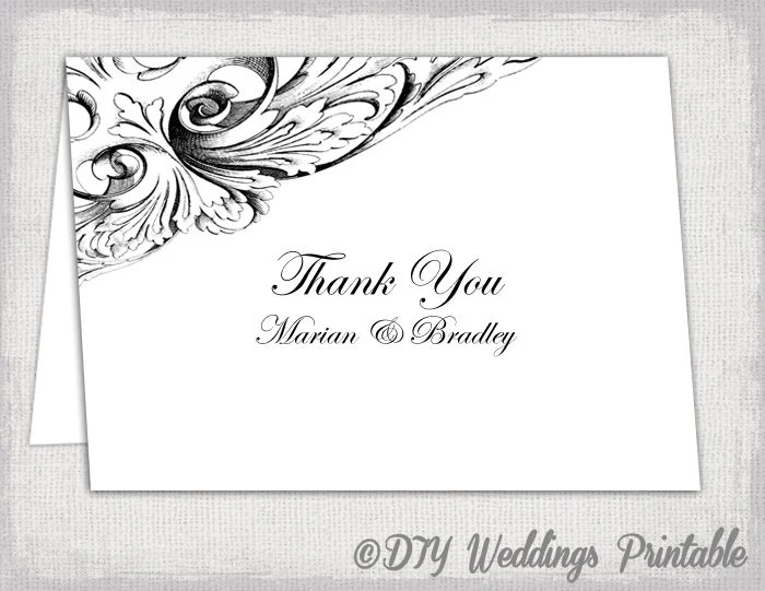 thank you card template black and white - Onwebioinnovate - printable thank you cards black and white