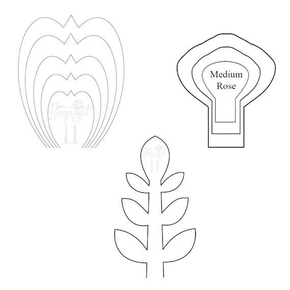 paper flower templates pdf - Maggilocustdesign - flower template
