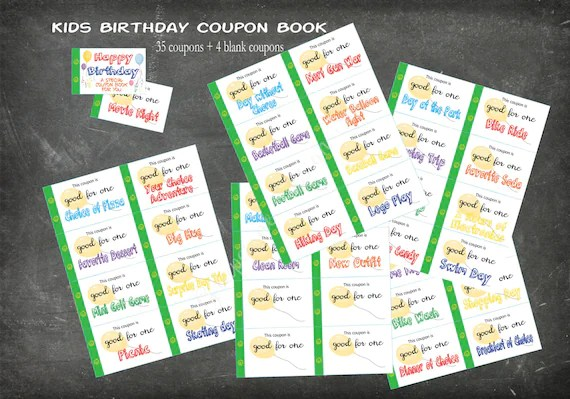 coupon book for ideas