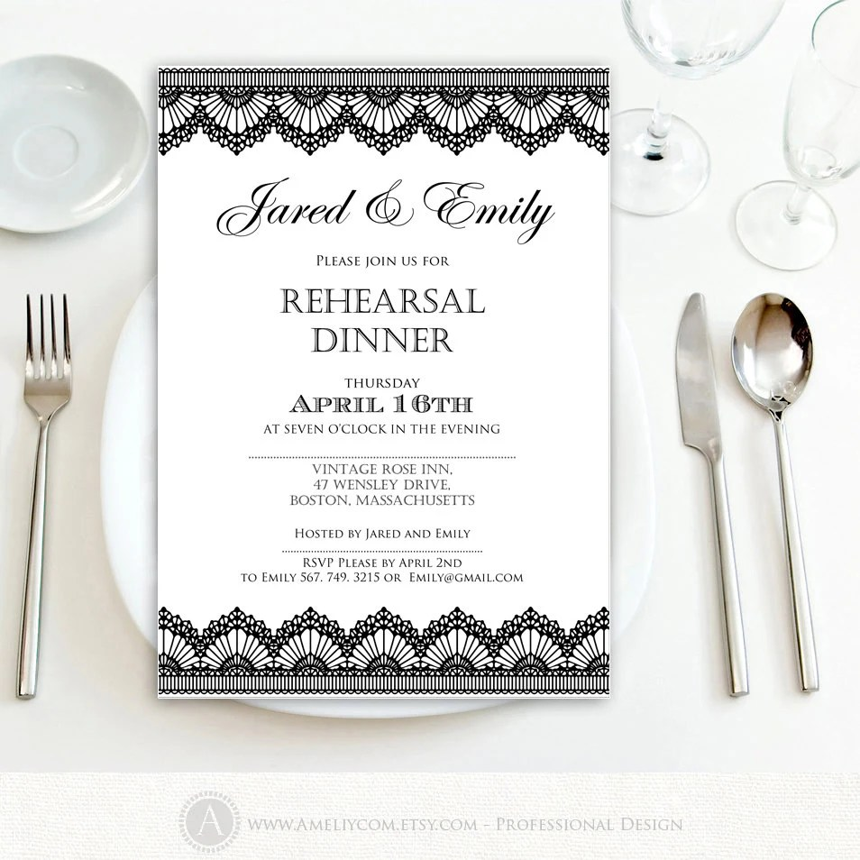 blank dinner invitation template - Josemulinohouse