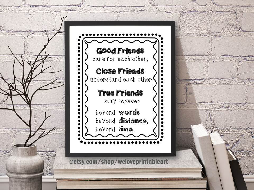 Best Friend Gift Long Distance Friendship Quote Best Gift - office newsletter
