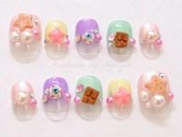 Harajuku nail kawaii nail deco nail 3D nail Japanese nail