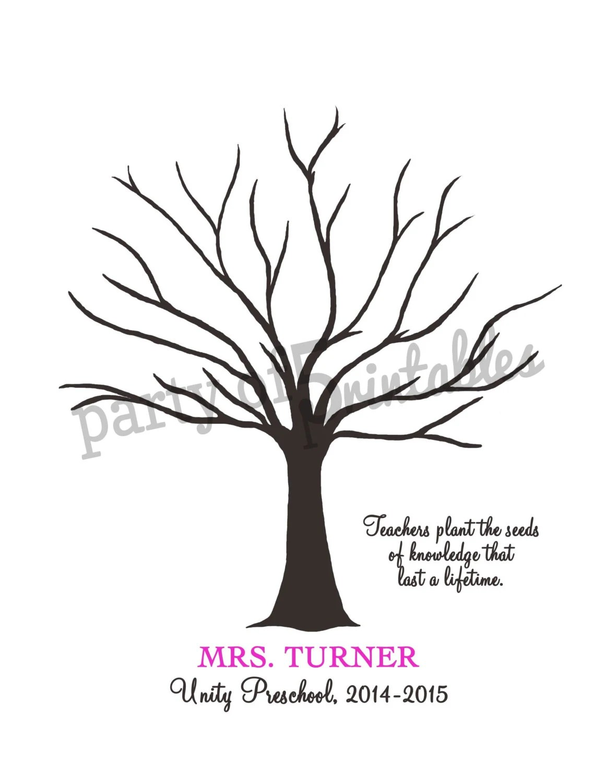 Teachers Gift Fingerprint Tree Teachers Plant Seeds Quote - create a gift certificate template