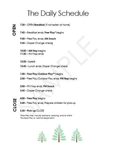 babysitter schedule - Apmayssconstruction