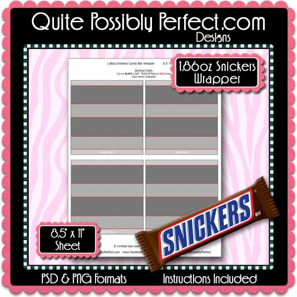 full size candy bar wrapper template - Eczasolinf