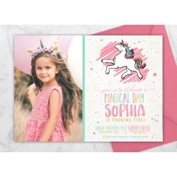 Small Crop Of Unicorn Birthday Invitations