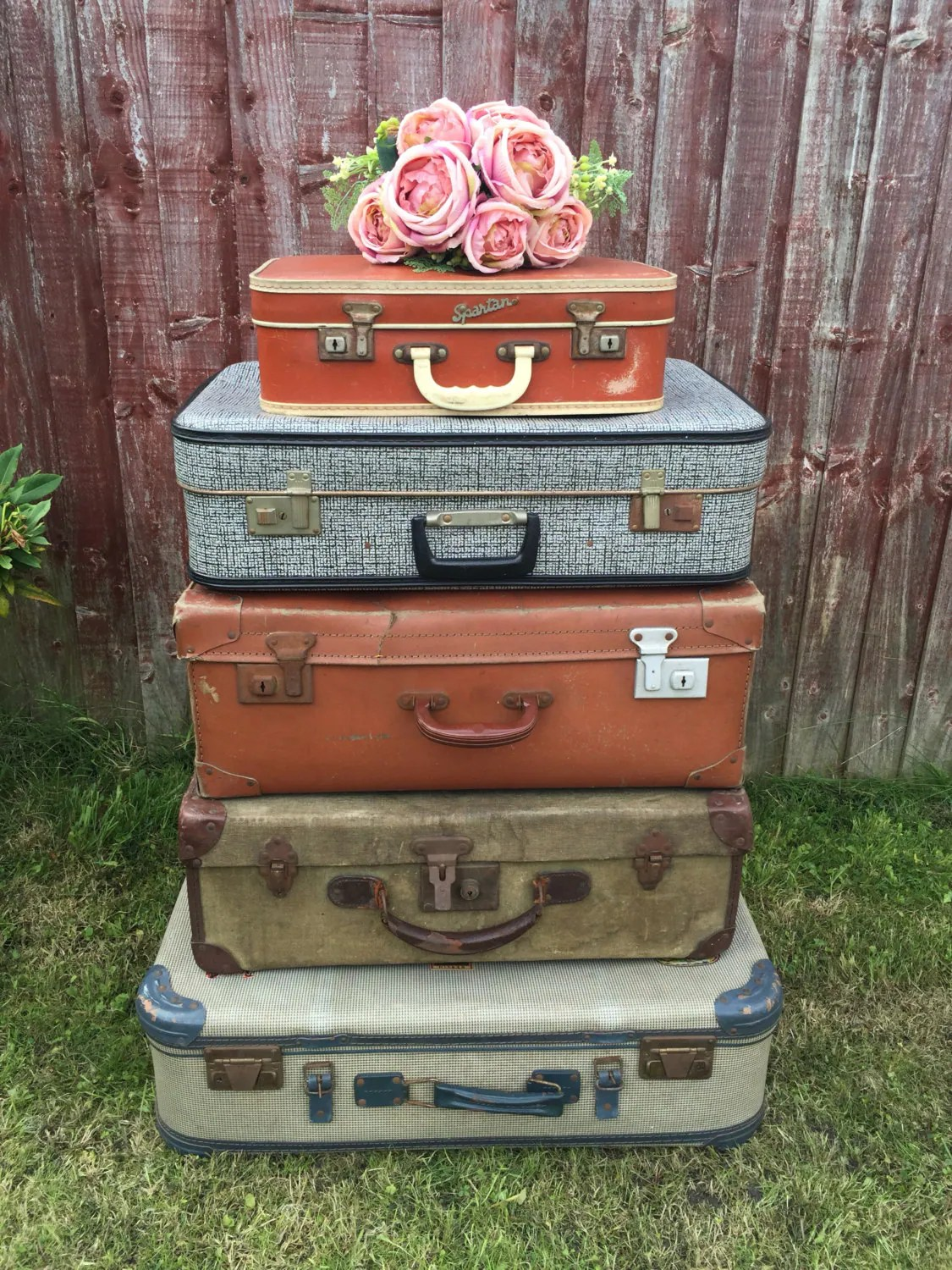 Vintage Decorative Suitcases Vintage Suitcases Vintage Luggage Vintage Home Decor