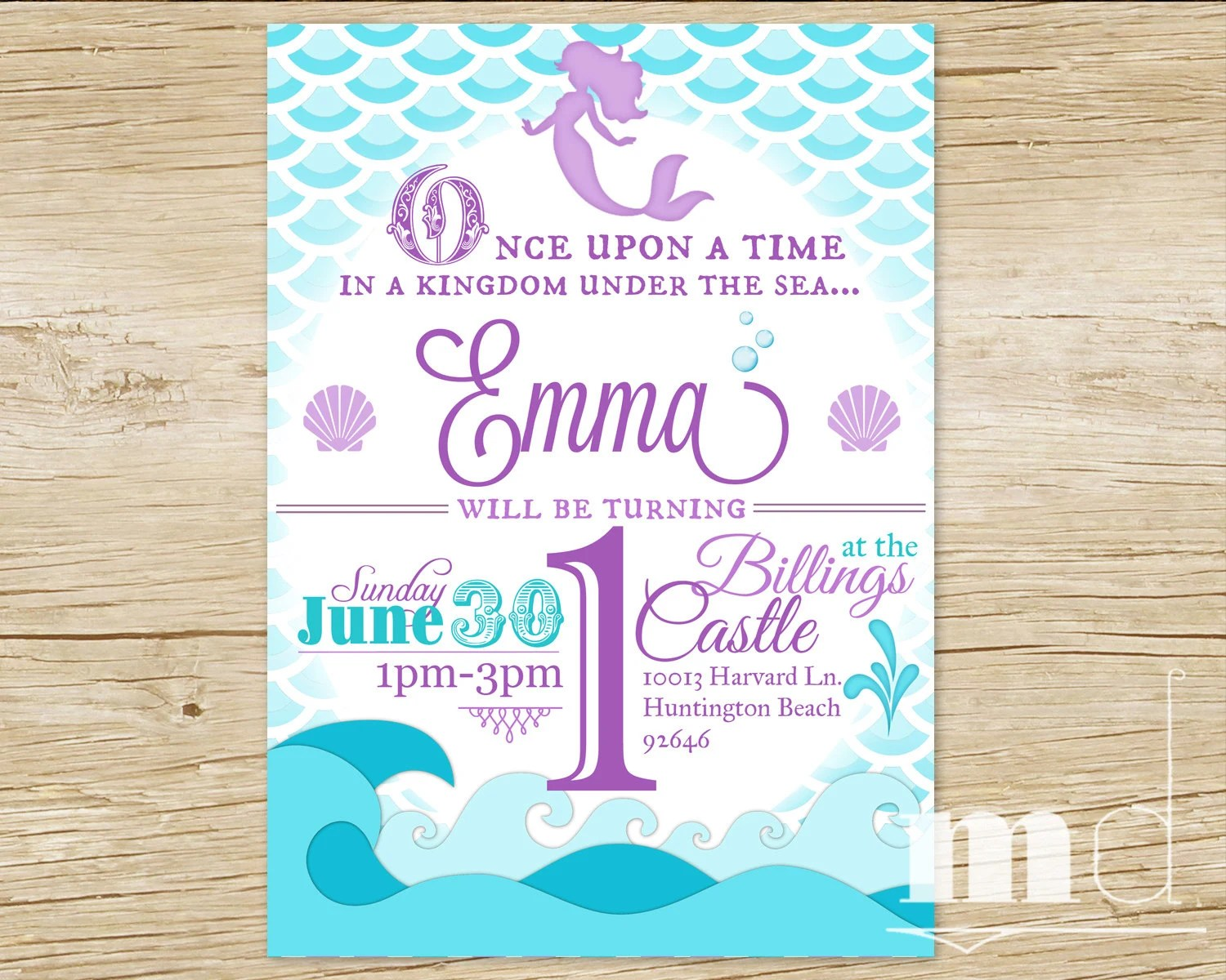 Comfortable Mermaid Birthday Party Invitation Little Mermaid ...
