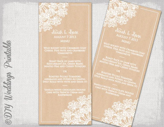 wedding menu templates - Romeolandinez - wedding menu template