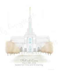 Personalized Gift, Any Temple, LDS Temple, LDS Wall Art ...
