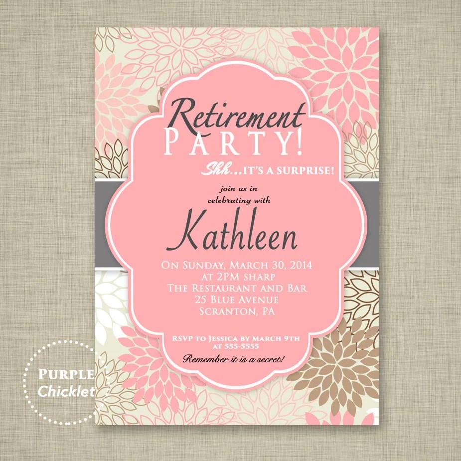 retirement party invitation ideas
