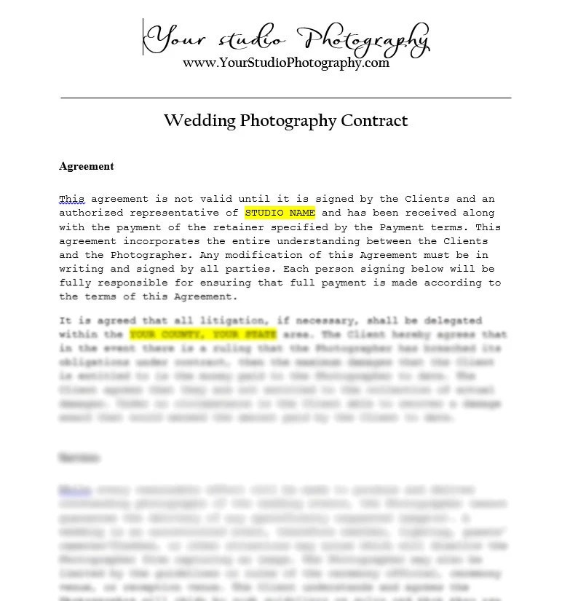 wedding photographer contract - Josemulinohouse