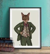 Cool cat artwork | Etsy