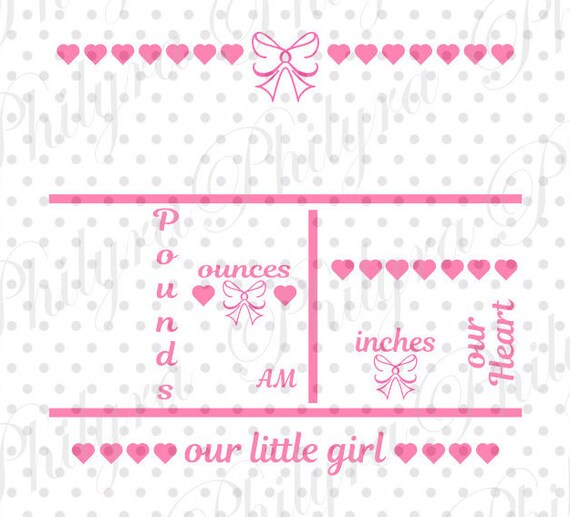 baby girl birth announcement template - Ozilalmanoof