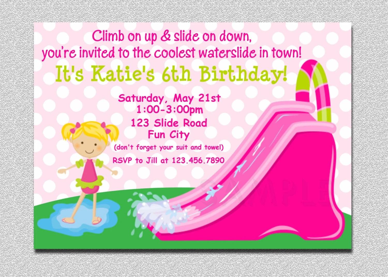 free pool party invitations printable