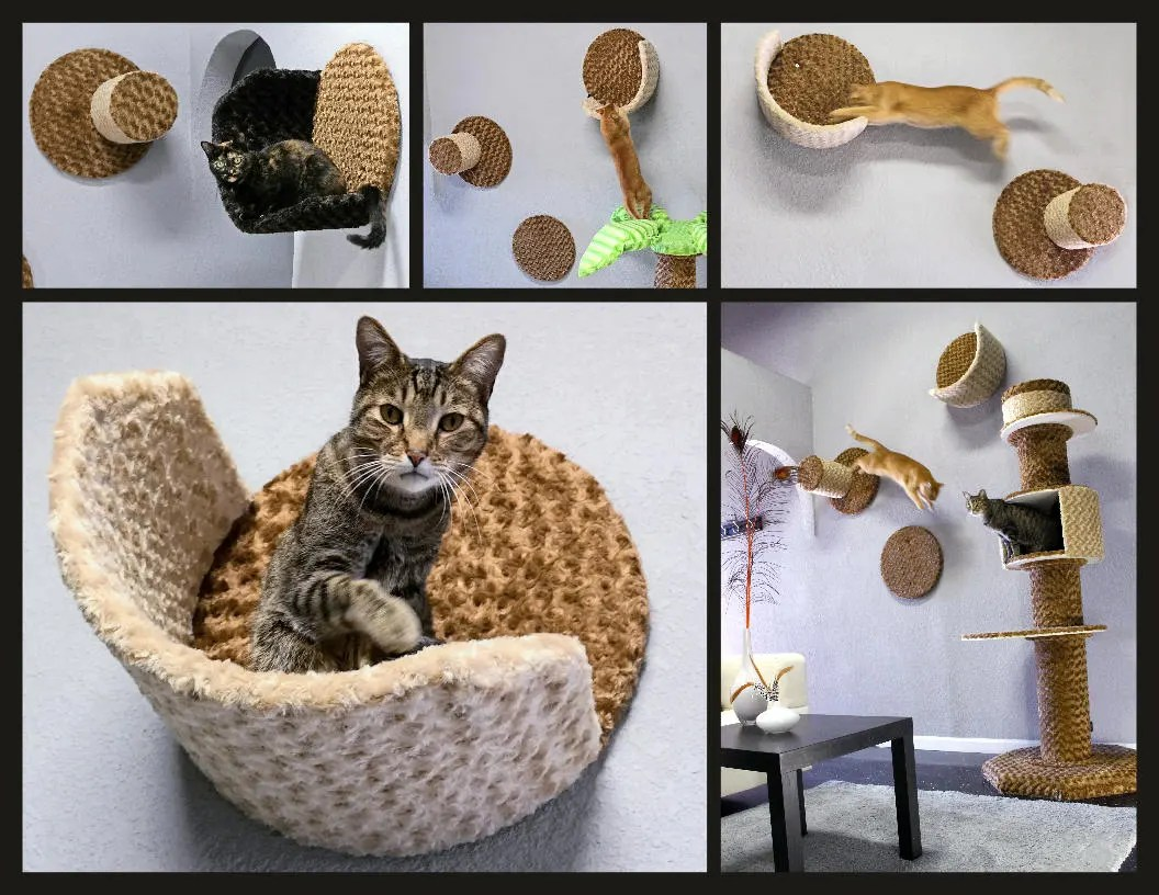 Cat Furniture Wall Wall Condo Cradle Wall Mounted Cat Furniture