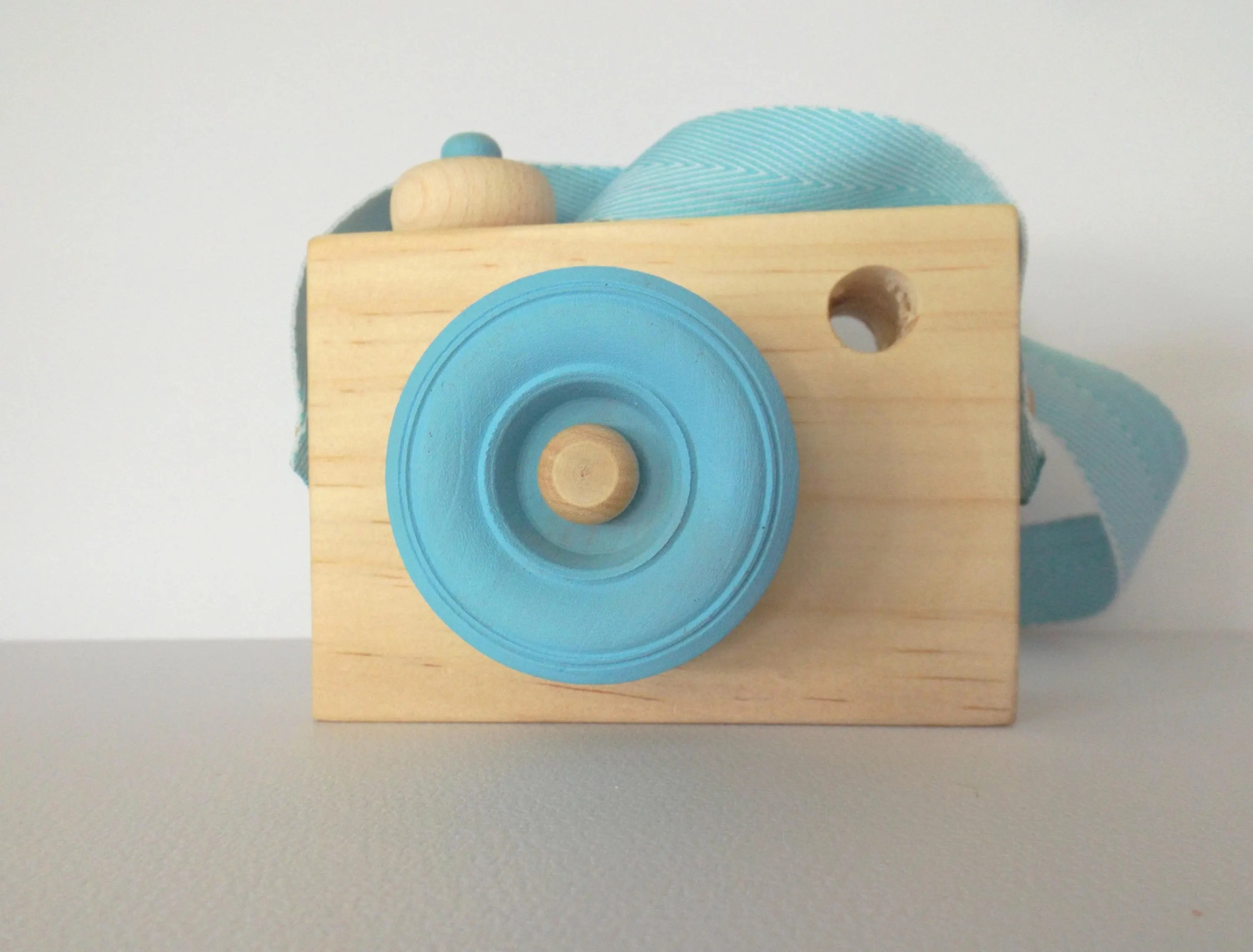 Wooden Toy Camera Blue Handmade Wooden Kids Toys Wooden