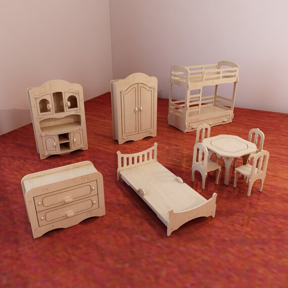 Toy-toys Shop Dolls Furniture Pack Vector Models For Cnc Router And Laser