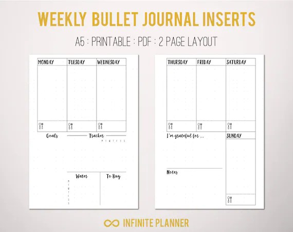bullet journal template pdf - Onwebioinnovate
