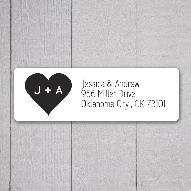 wedding return address labels template - Ozilalmanoof - Return Address Label Template