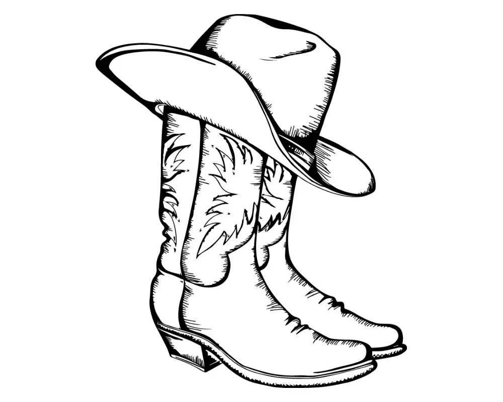 Cowgirl Boots With Hat Svg Pictures To Pin On Pinterest