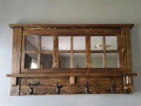 Black Wall Mounted Coat Rack With Shelf - Tradingbasis