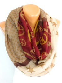 Peace Scarf Shawl Scarves Peace Sign Painted Scarf Peace