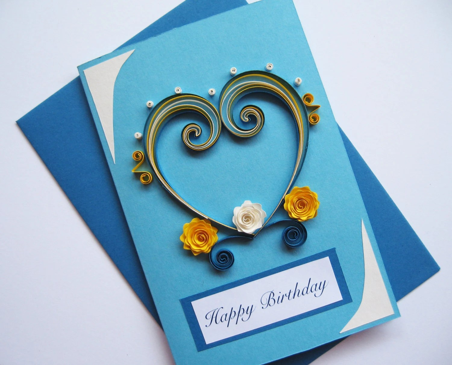 Carte Cadeau Wish Husband Birthday Card Valentine 39s Day Card Quilling