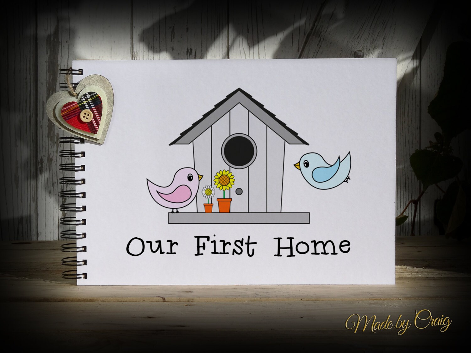 First House Gift Ideas Scrapbook Personalised Our First Home Photo Album New