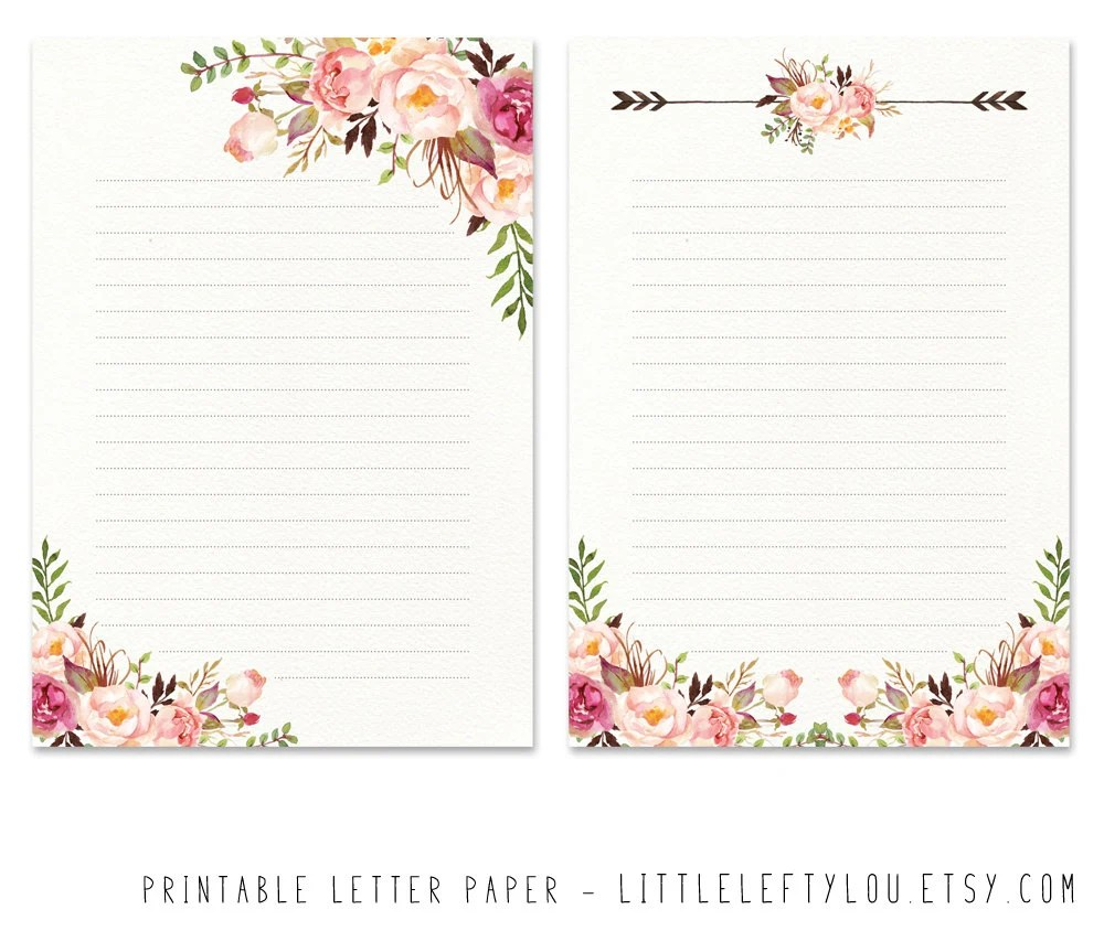 flower writing paper - Ozilalmanoof - design paper for writing