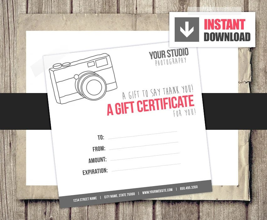 photography gift certificate template free download - Onwe - Travel Gift Certificate Template Free