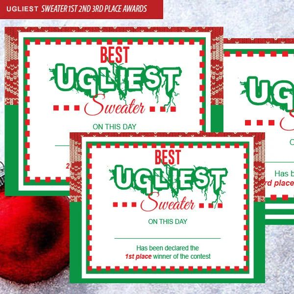 ugly sweater certificate