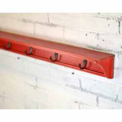 Small Crop Of Long Wall Shelf With Hooks