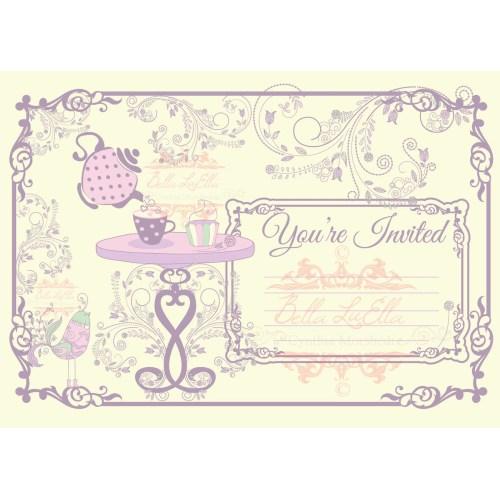 Medium Crop Of Tea Party Invitations