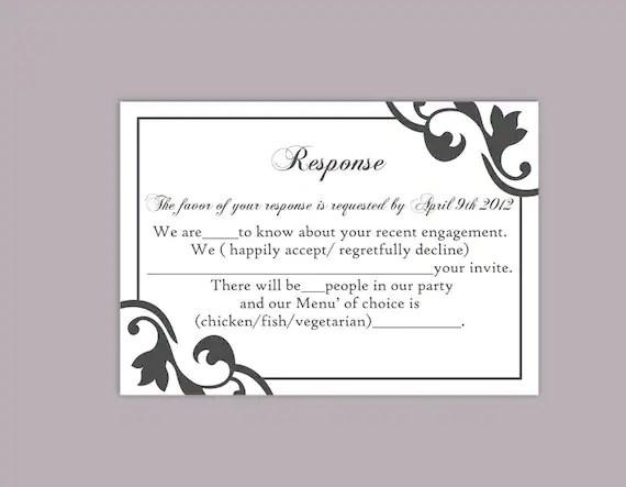 wedding response card templates free - Maggilocustdesign