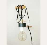 Brass White Black Adjustable Wall Pendant Sconce Hanging Lamp