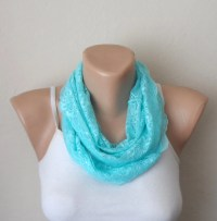 mint green infinity scarf lace loop scarf womens scarves lace